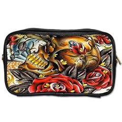 Flower Art Traditional Toiletries Bags 2 Side by Sapixe