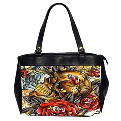 Flower Art Traditional Office Handbags (2 Sides)