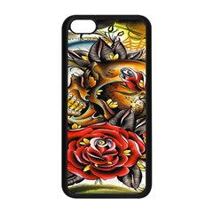 Flower Art Traditional Apple Iphone 5c Seamless Case (black) by Sapixe
