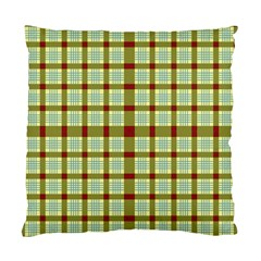 Geometric Tartan Pattern Square Standard Cushion Case (one Side) by Sapixe