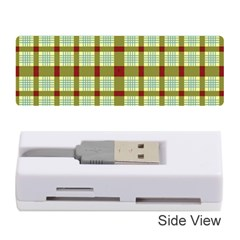 Geometric Tartan Pattern Square Memory Card Reader (stick)  by Sapixe