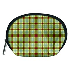 Geometric Tartan Pattern Square Accessory Pouches (medium)  by Sapixe