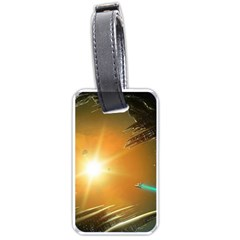 Future City Luggage Tags (one Side)  by Sapixe