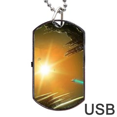 Future City Dog Tag Usb Flash (two Sides) by Sapixe