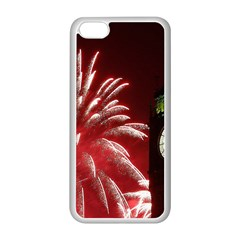 Fireworks Explode Behind The Houses Of Parliament And Big Ben On The River Thames During New Year's Apple Iphone 5c Seamless Case (white) by Sapixe