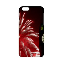 Fireworks Explode Behind The Houses Of Parliament And Big Ben On The River Thames During New Year's Apple Iphone 6/6s Hardshell Case by Sapixe