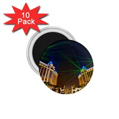 Galaxy Hotel Macau Cotai Laser Beams At Night 1 75  Magnets (10 Pack)  by Sapixe