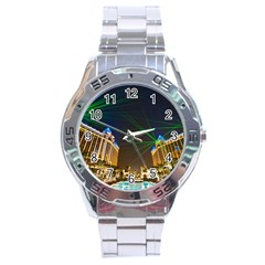 Galaxy Hotel Macau Cotai Laser Beams At Night Stainless Steel Analogue Watch by Sapixe