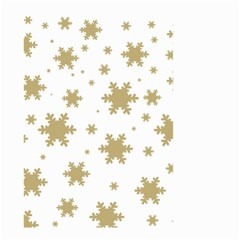 Gold Snow Flakes Snow Flake Pattern Small Garden Flag (two Sides) by Sapixe