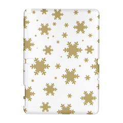 Gold Snow Flakes Snow Flake Pattern Galaxy Note 1 by Sapixe