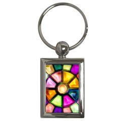 Glass Colorful Stained Glass Key Chains (rectangle)  by Sapixe