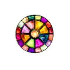 Glass Colorful Stained Glass Hat Clip Ball Marker (4 Pack)