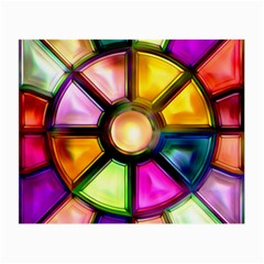 Glass Colorful Stained Glass Small Glasses Cloth (2 Side) by Sapixe