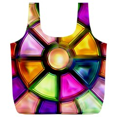 Glass Colorful Stained Glass Full Print Recycle Bags (l)  by Sapixe