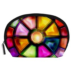 Glass Colorful Stained Glass Accessory Pouches (large)  by Sapixe
