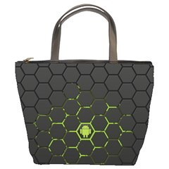 Green Android Honeycomb Gree Bucket Bags by Sapixe