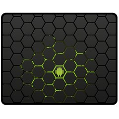 Green Android Honeycomb Gree Double Sided Fleece Blanket (medium)  by Sapixe