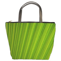 Green Leaf Pattern Plant Bucket Bags by Sapixe