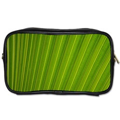 Green Leaf Pattern Plant Toiletries Bags by Sapixe
