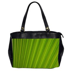 Green Leaf Pattern Plant Office Handbags (2 Sides)  by Sapixe