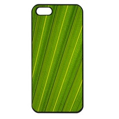 Green Leaf Pattern Plant Apple Iphone 5 Seamless Case (black)