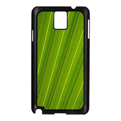 Green Leaf Pattern Plant Samsung Galaxy Note 3 N9005 Case (black) by Sapixe
