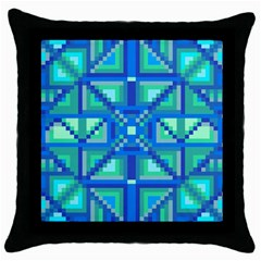 Grid Geometric Pattern Colorful Throw Pillow Case (black)
