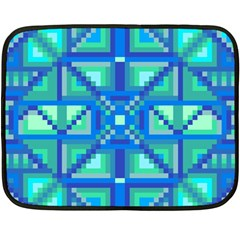 Grid Geometric Pattern Colorful Double Sided Fleece Blanket (mini)  by Sapixe