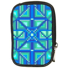 Grid Geometric Pattern Colorful Compact Camera Cases by Sapixe