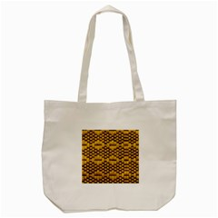 Golden Pattern Fabric Tote Bag (cream) by Sapixe