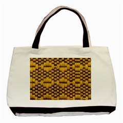 Golden Pattern Fabric Basic Tote Bag by Sapixe