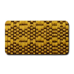 Golden Pattern Fabric Medium Bar Mats by Sapixe