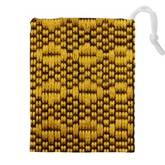 Golden Pattern Fabric Drawstring Pouches (xxl)