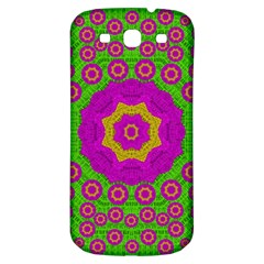 Decorative Festive Bohemic Ornate Style Samsung Galaxy S3 S Iii Classic Hardshell Back Case by pepitasart
