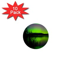 Green Northern Lights Canada 1  Mini Buttons (10 Pack)