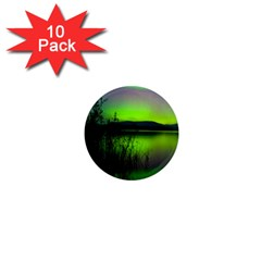 Green Northern Lights Canada 1  Mini Magnet (10 Pack)