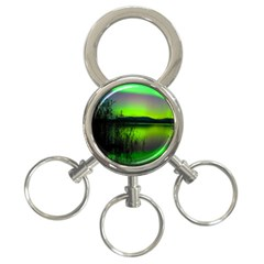 Green Northern Lights Canada 3 Ring Key Chains