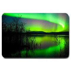 Green Northern Lights Canada Large Doormat  by Sapixe