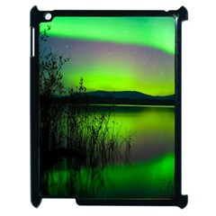 Green Northern Lights Canada Apple Ipad 2 Case (black) by Sapixe