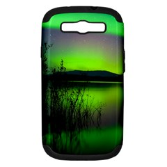 Green Northern Lights Canada Samsung Galaxy S Iii Hardshell Case (pc+silicone) by Sapixe