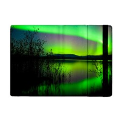 Green Northern Lights Canada Apple Ipad Mini Flip Case by Sapixe
