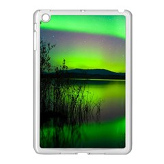 Green Northern Lights Canada Apple Ipad Mini Case (white) by Sapixe