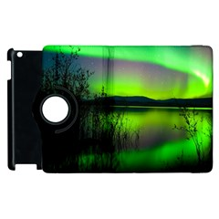 Green Northern Lights Canada Apple Ipad 2 Flip 360 Case by Sapixe