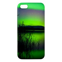 Green Northern Lights Canada Iphone 5s/ Se Premium Hardshell Case by Sapixe