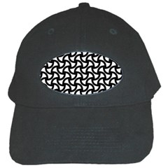 Grid Pattern Background Geometric Black Cap