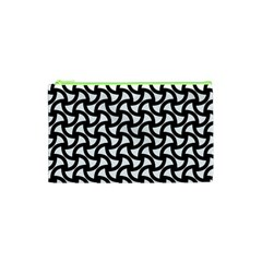 Grid Pattern Background Geometric Cosmetic Bag (xs)
