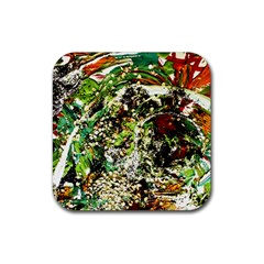 April   Birds Of Paradise 5 Rubber Coaster (square)  by bestdesignintheworld