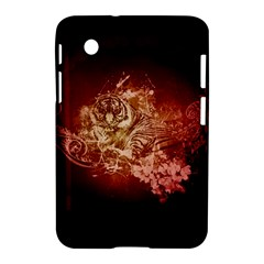 Wonderful Tiger With Flowers And Grunge Samsung Galaxy Tab 2 (7 ) P3100 Hardshell Case  by FantasyWorld7