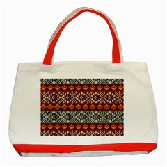 Mayan Symbols Pattern  Classic Tote Bag (red) by Cveti