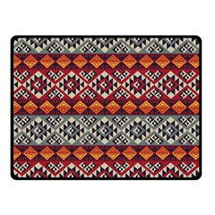 Mayan Symbols Pattern  Double Sided Fleece Blanket (small)  by Cveti